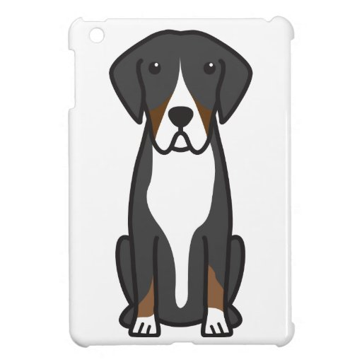 Entlebucher Mountain Dog Cartoon iPad Mini Cover