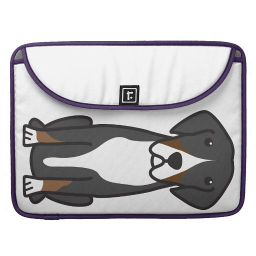 Entlebucher Mountain Dog Cartoon MacBook Pro Sleeves