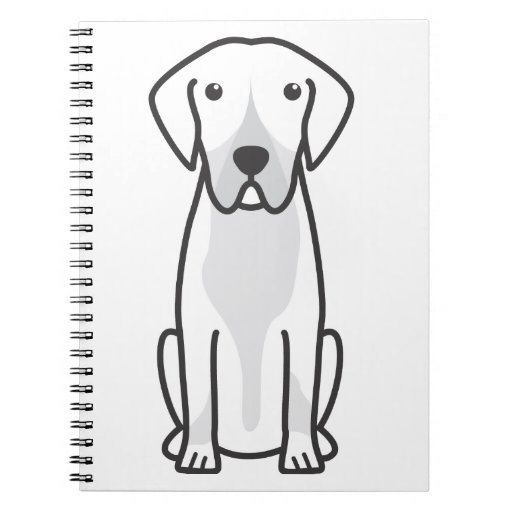 Entlebucher Mountain Dog Cartoon Spiral Note Books