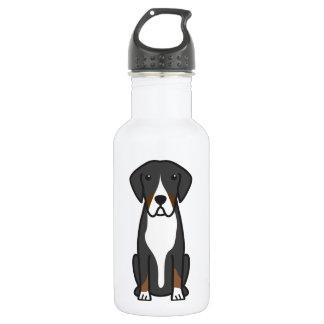 Entlebucher Mountain Dog Cartoon 18oz Water Bottle