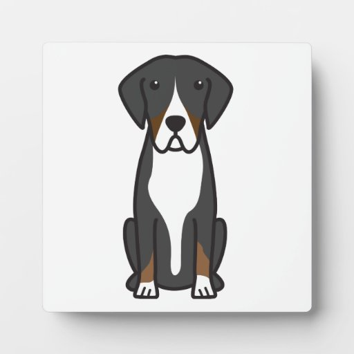 Entlebucher Mountain Dog Cartoon Photo Plaque