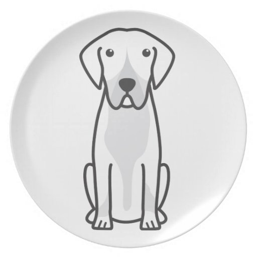 Entlebucher Mountain Dog Cartoon Plate