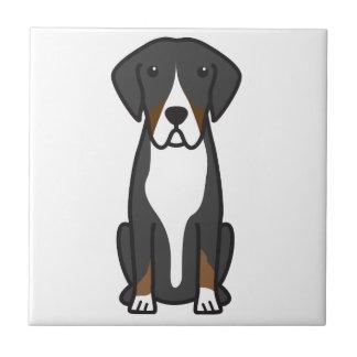 Entlebucher Mountain Dog Cartoon Small Square Tile