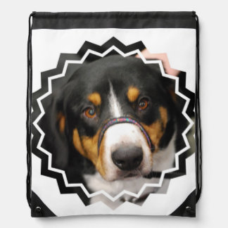 Entlebucher Mountain Dog Drawstring Bag