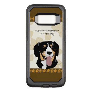 Entlebucher Mountain Dog on Tan Leaves OtterBox Commuter Samsung Galaxy S8 Case