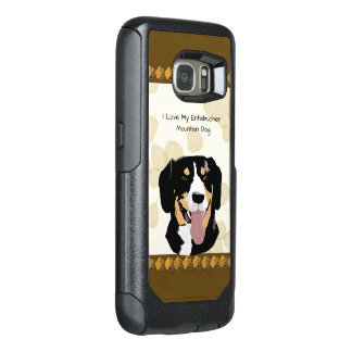 Entlebucher Mountain Dog on Tan Leaves OtterBox Samsung Galaxy S7 Case