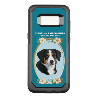 Entlebucher Mountain Dog on Teal Floral OtterBox Commuter Samsung Galaxy S8 Case