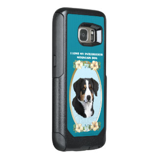 Entlebucher Mountain Dog on Teal Floral OtterBox Samsung Galaxy S7 Case