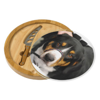 Entlebucher Mountain Dog Round Cheeseboard