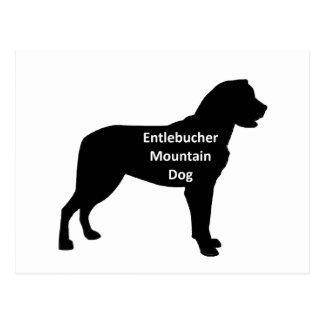 entlebucher mt dog name silo black.png postcard
