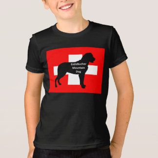 entlebucher mt dog name silo on switzerland flag.p T-Shirt