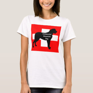 entlebucher mt dog name silo on switzerland flag.p T-Shirt