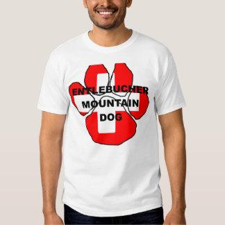 entlebucher name on paw switzerland flag.png T-Shirt