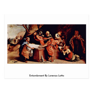 Entombment By Lorenzo Lotto Postcard