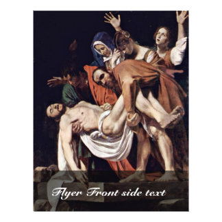 Entombment By Michelangelo Merisi Da Caravaggio Full Color Flyer