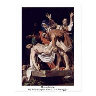 Entombment By Michelangelo Merisi Da Caravaggio Postcard