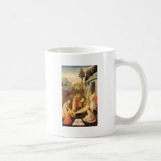 Entombment de Cristo circa 1450 Tazas De Café