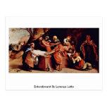 Entombment de Lorenzo Lotto Postales
