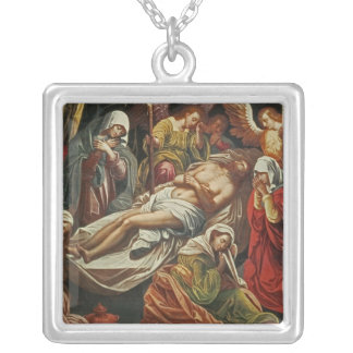 Entombment of Christ, Villabranca Silver Plated Necklace