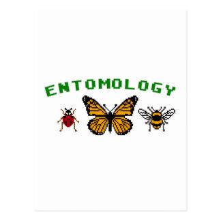 entomología de 8 bits tarjetas postales