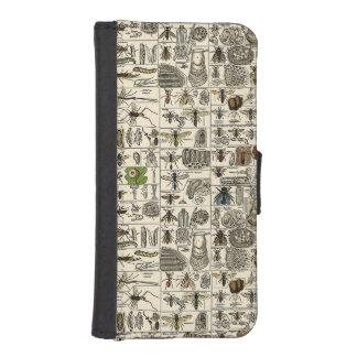 Entomología del vintage funda billetera para teléfono