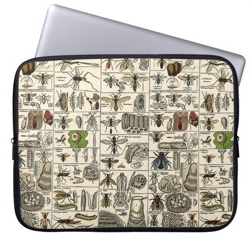 Entomología del vintage funda ordendadores