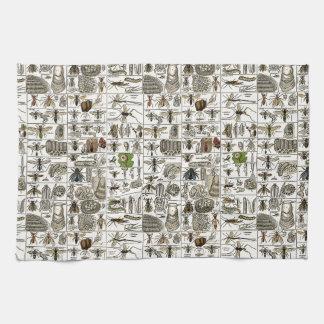 Entomología del vintage toalla de cocina