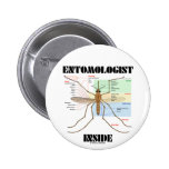 Entomologist Inside (Mosquito Anatomy) Pinback Buttons