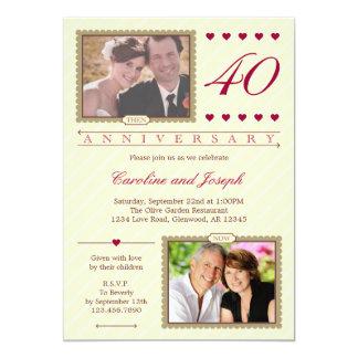 Entonces y ahora 40.a invitación del aniversario
