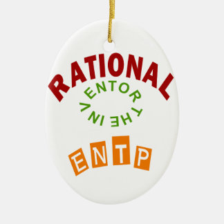 ENTP Rational personality Ceramic Ornament