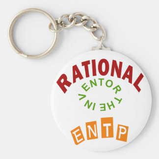 ENTP Rational personality Basic Round Button Keychain