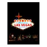 Entra Vegas Iluminado Tarjetas Postales