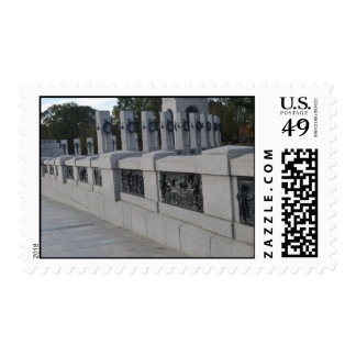 Entrace Stairs to WWII Memorial Postage Stamp