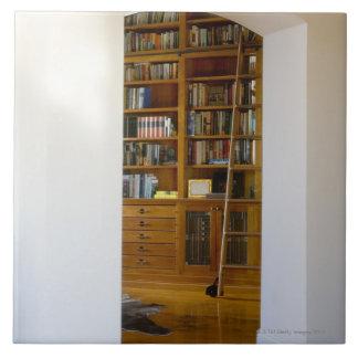 Entrada a la biblioteca casera azulejo cuadrado grande