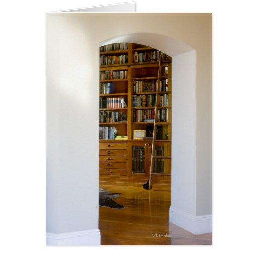 Entrada a la biblioteca casera tarjeton