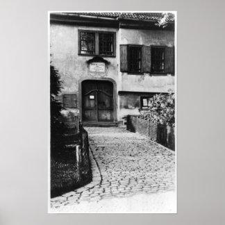 Entrada a la casa de Johann Sebastian Bach Posters