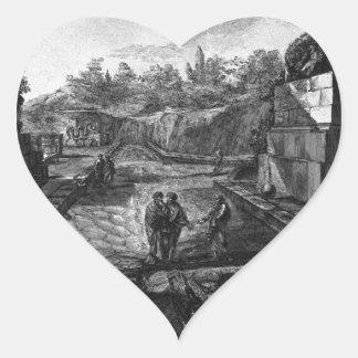 Entrada a la ciudad de Pompeya con la existencia Pegatina En Forma De Corazón