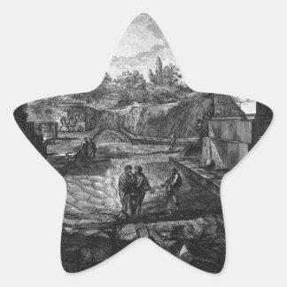 Entrada a la ciudad de Pompeya con la existencia Pegatina En Forma De Estrella