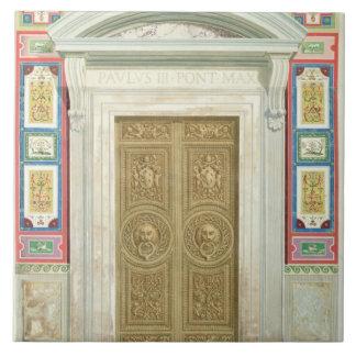 Entrada a la logia de Raphael en el Vatican, de Azulejo Cuadrado Grande