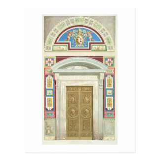 Entrada a la logia de Raphael en el Vatican, de Tarjeta Postal