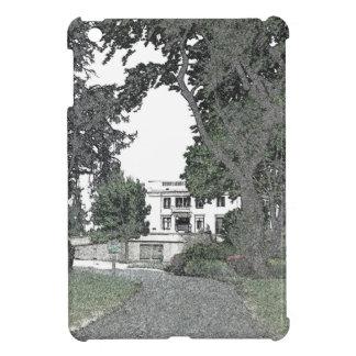 Entrada a la mansión a través de los árboles iPad mini funda