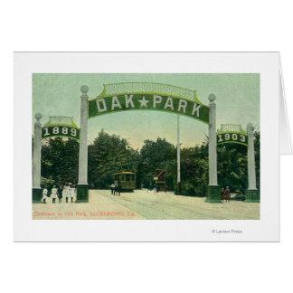 Entrada a la opinión de Oak Park Tarjeton