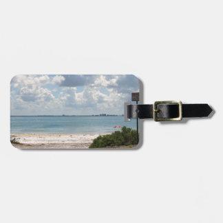 Entrada a la playa de Sanibel Etiquetas Para Equipaje