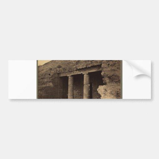 Entrada a las tumbas pintadas, Egipto circa 1856 Pegatina Para Auto