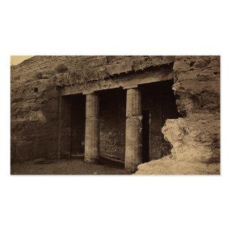 Entrada a las tumbas pintadas, Egipto circa 1856 Tarjetas De Visita