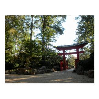 Entrada a los jardines japoneses postal