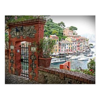 Entrada a Portofino, postal de Italia