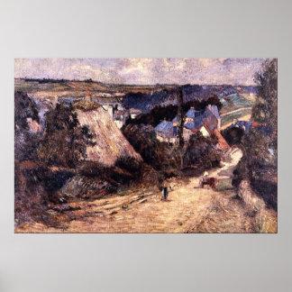 Entrada a un pueblo de Eugène Enrique Paul Gauguin Poster