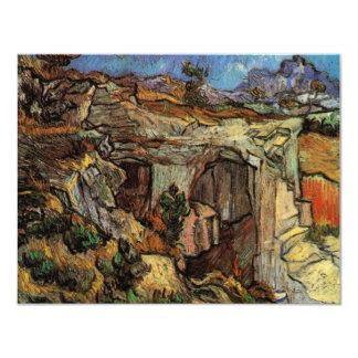 """Entrada a una mina, bella arte de Van Gogh del Invitación 4.25"""" X 5.5"""""""