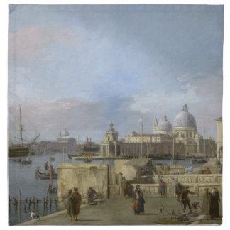 Entrada al Gran Canal por Canaletto Servilleta Imprimida